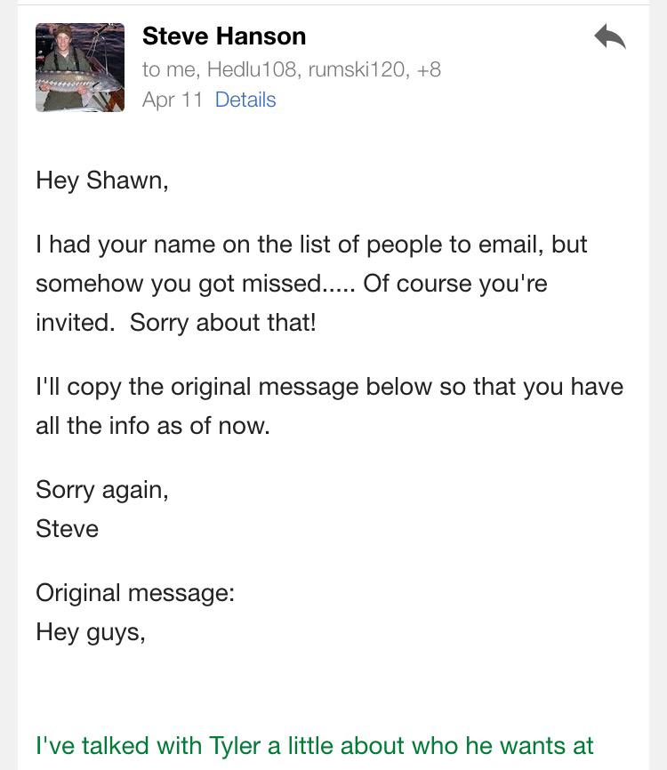 Musings ShawnMcGovern – Bachelor Party Email Invite
